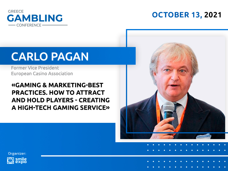 Former VP of Marketing at ECA Carlo Pagan Will Share His Experience in Implementing Marketing Concepts at Greece Gambling Conference